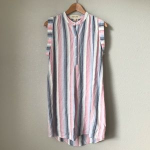 Cloth & Stone Sunburst Stripe Shirt Dress NWOT